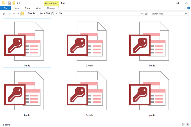 how to create mdb file