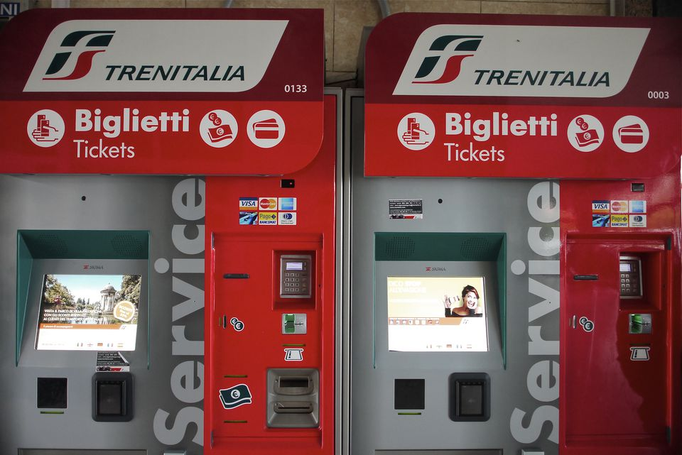 Italian train ticketing machine