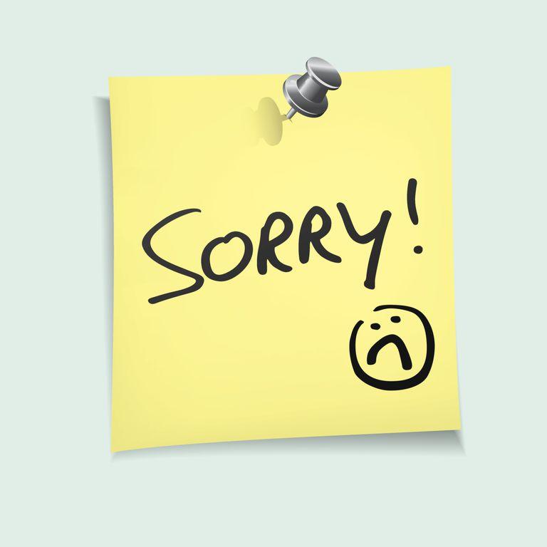Cartel de sorry para ilustrar los errores en petición de waivers
