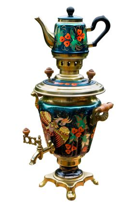 Samovar with Matching Teapot