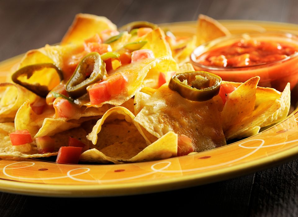 Nachos with toppings