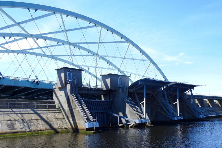photo of bridge / open hurricane barrier in Providence, Rhode Island