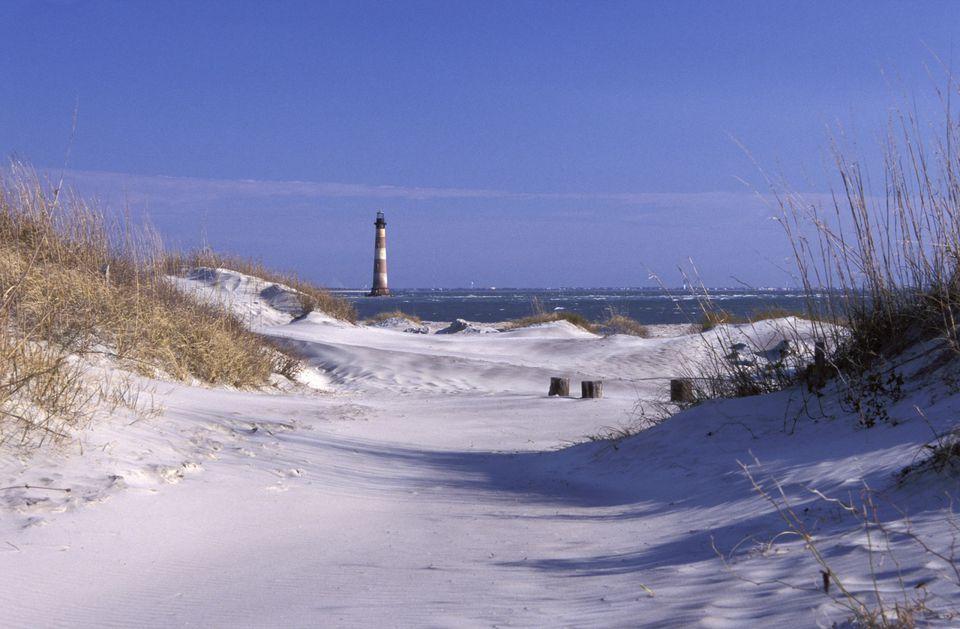 Morris Island Lighthouse in South Carolina