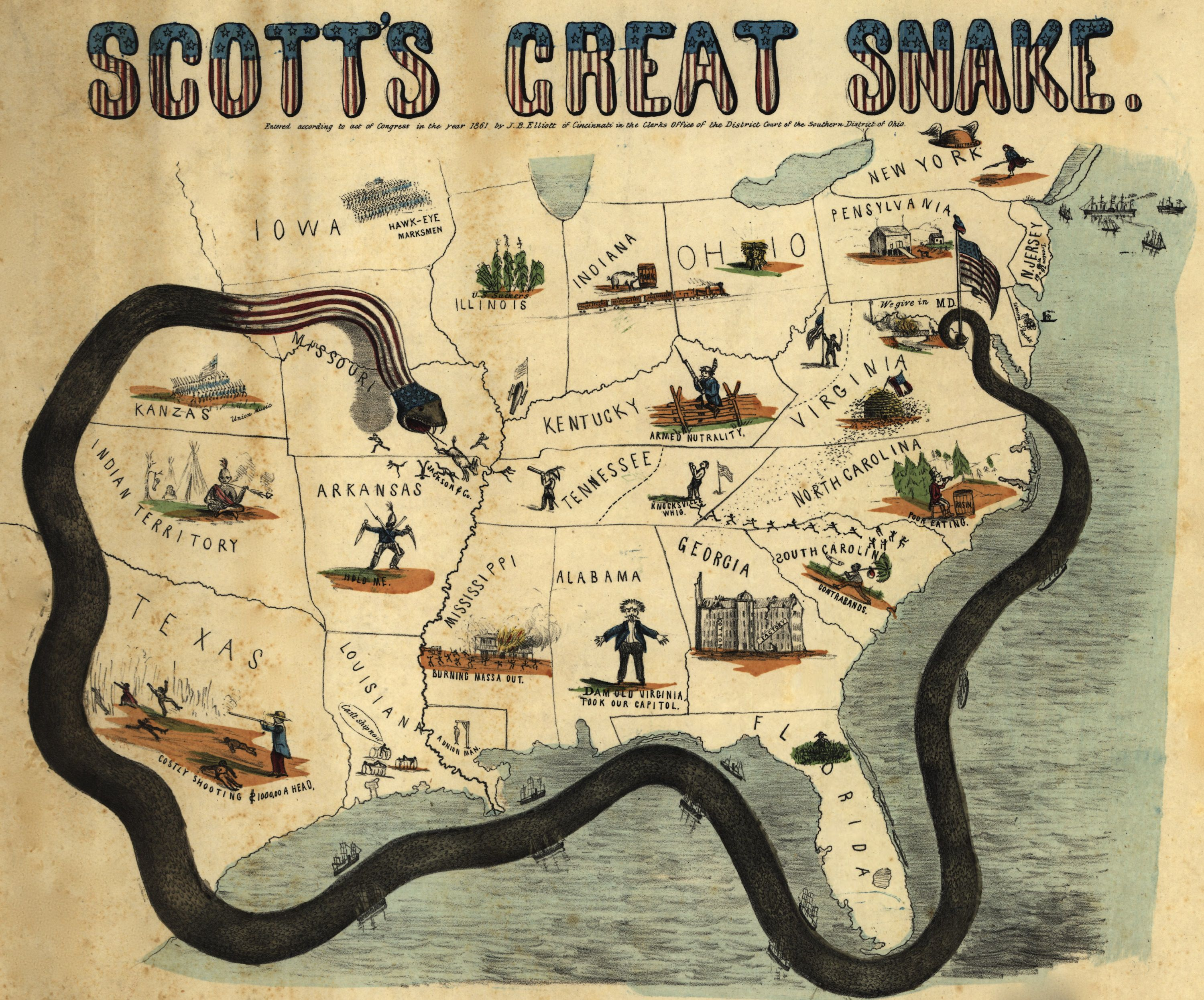 the anaconda plan of 1861 early civil war strategy