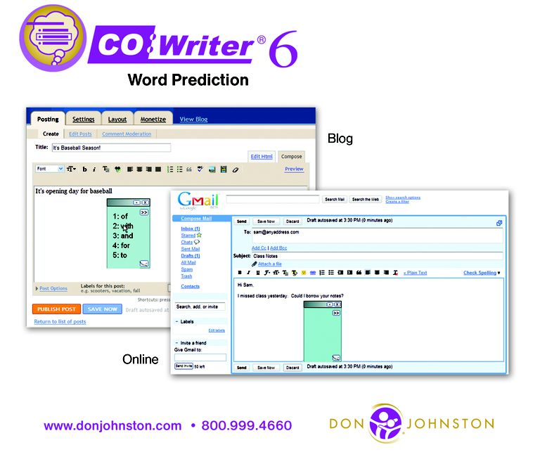 Co:Writer Word Prediction Makes Essay & Creative Writing Easier