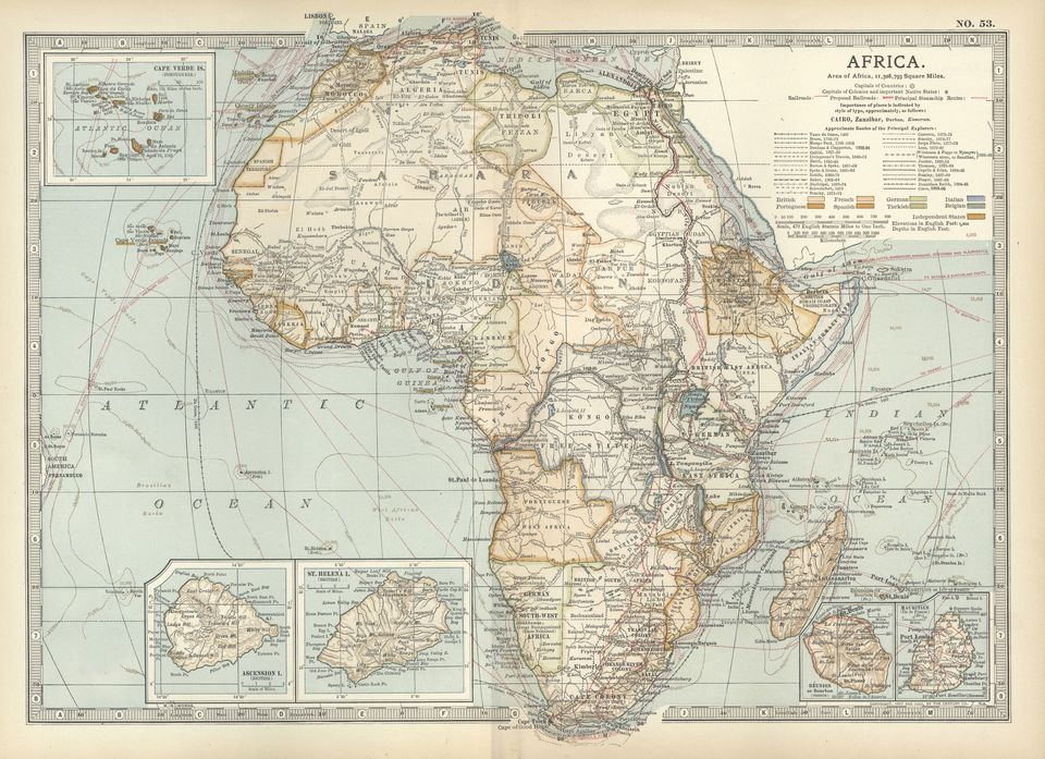 Historic Map of Africa