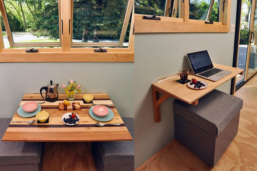 10 space making hacks for small kitchens for Small eating table