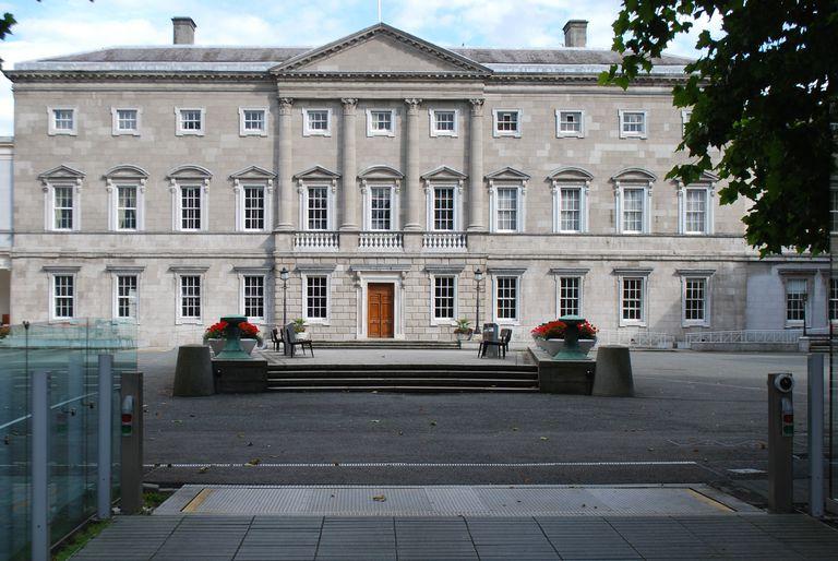 Front Facade of Leinster House, Dublin, Ireland