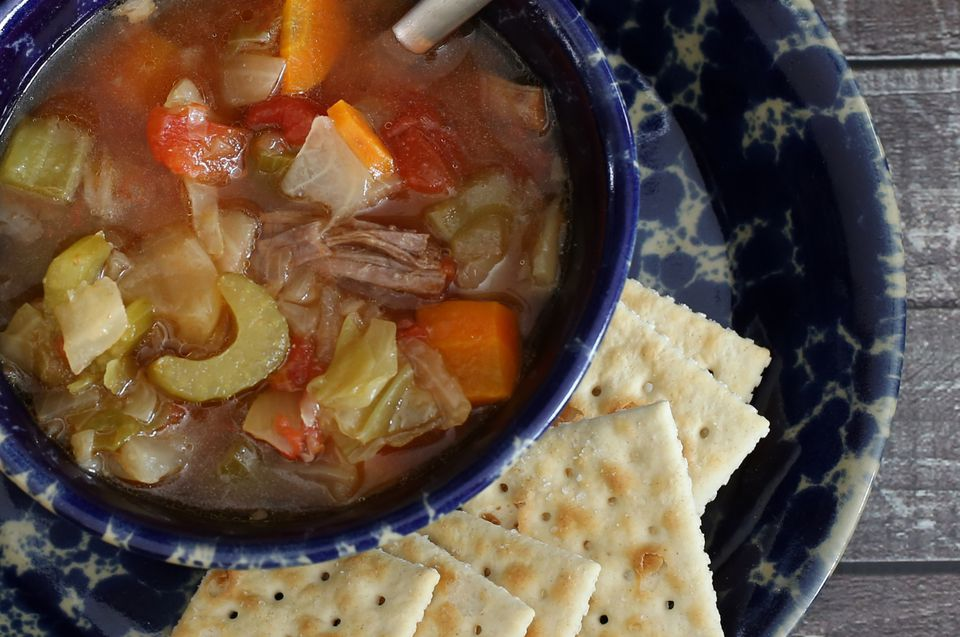 cabbage soup with leftover meat