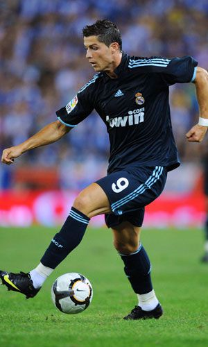 Cristiano Ronaldo performs his renowned step over for Real Madrid.