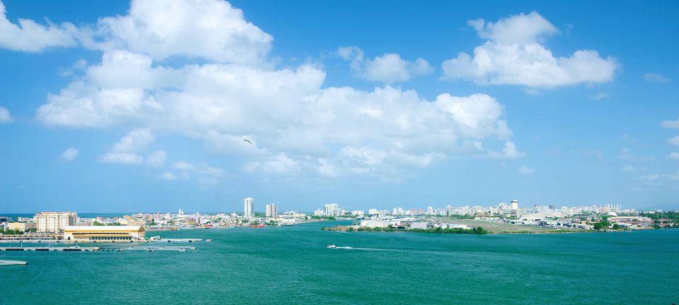 Airport and ferry terminals. San Juan, Puerto Rico.