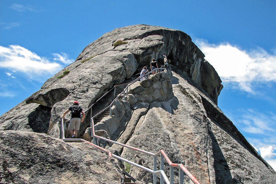 Climbing Moro Rock