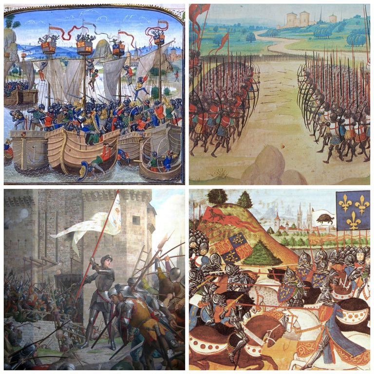 paintings representing battles of the Hundred Years' War