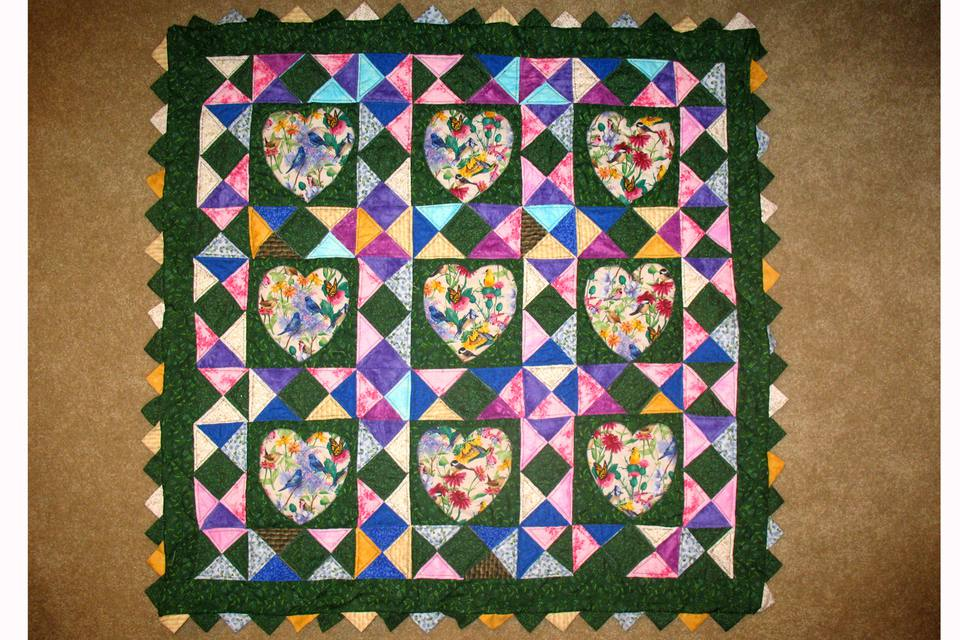 Quilt with Prairie Points