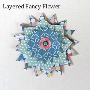 Make these layered patterned paper flowers with free patterns provided