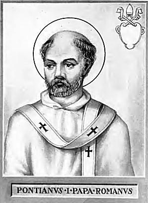 Pope Pontian from Lives of The Lives and Times of the Popes, Volume 1