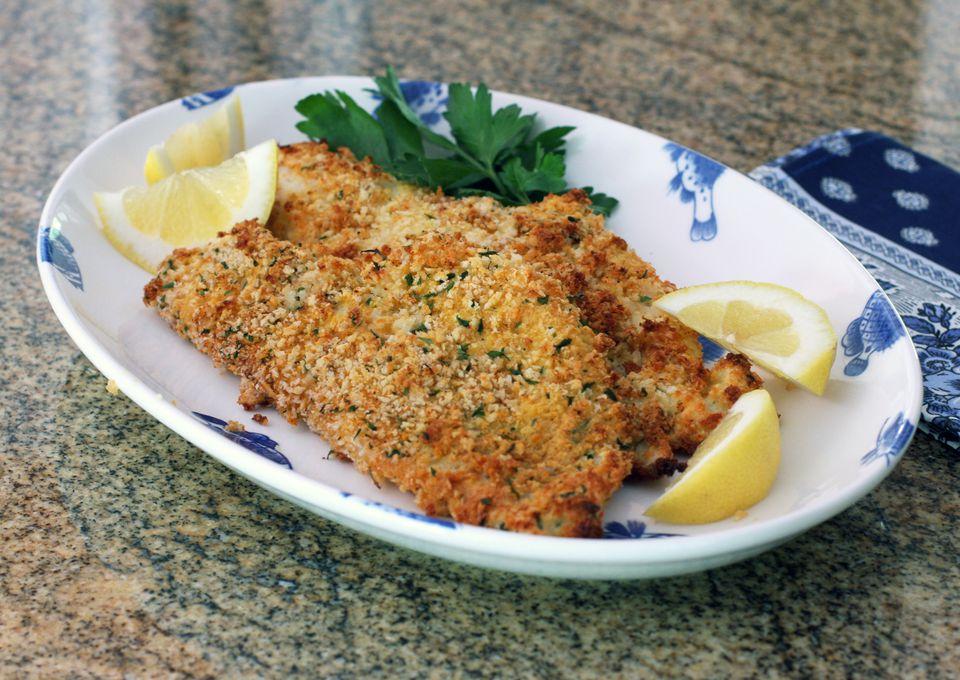 Baked panko crusted fish recipe for Panko fried fish