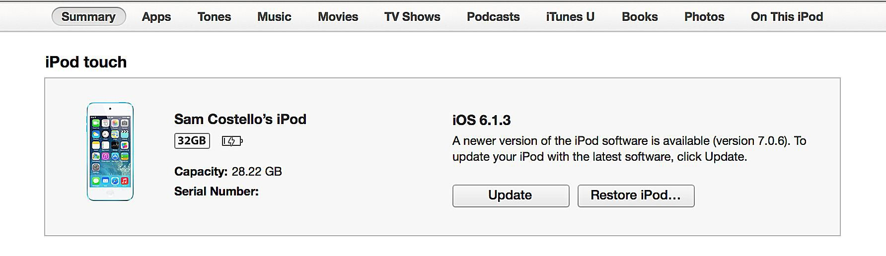 How to Update Your iPod s Operating System With iTunes