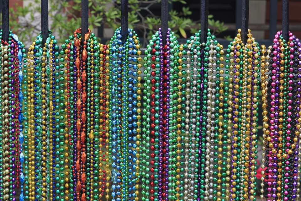 Mardi Gras beads, Uptown Magazine Street