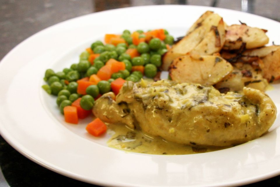 Chicken With Creamy Curry Sauce