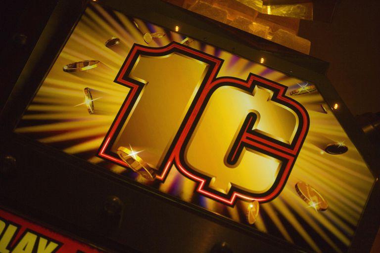 Close-up of a slot machine in a casino, Las Vegas, Nevada, USA