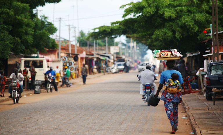 Busy street, Benin Africa
