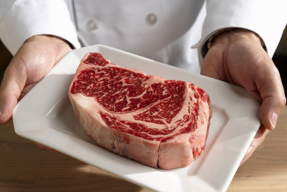 Steak with marbling