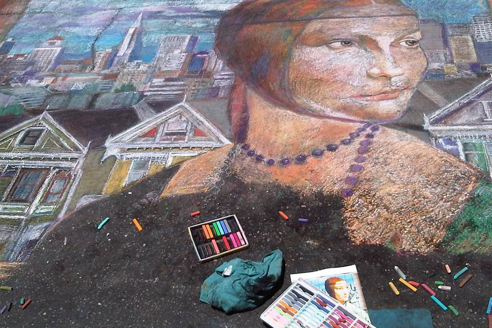 Chalk Art at the North Beach Festival in San Francisco