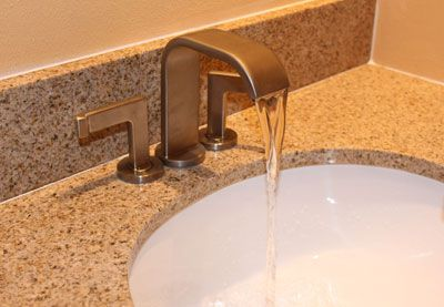 A Price Pfister bathroom faucet