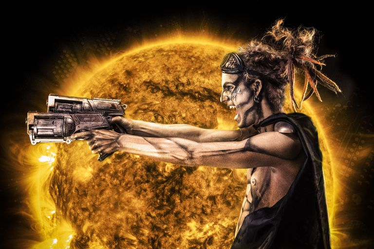 Steampunk Cyborg Warrior Eclipse