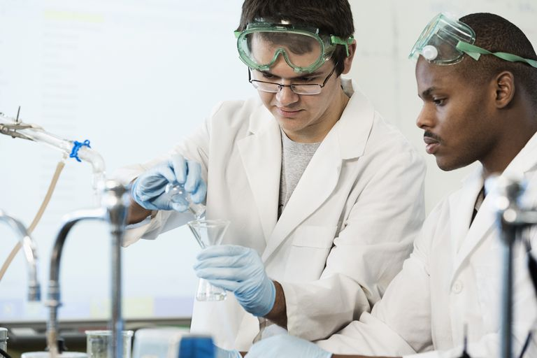 Students working in lab classroom