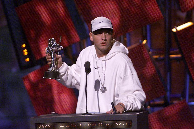 Eminem accepting MTV Video Music Award