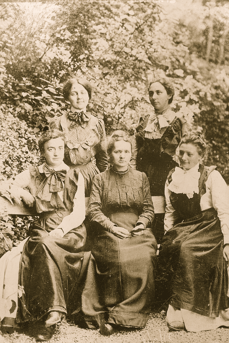 Marie Curie with Female Students