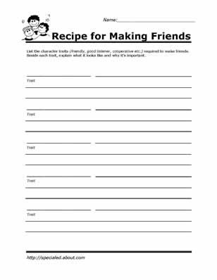 Recipe for Making Friends