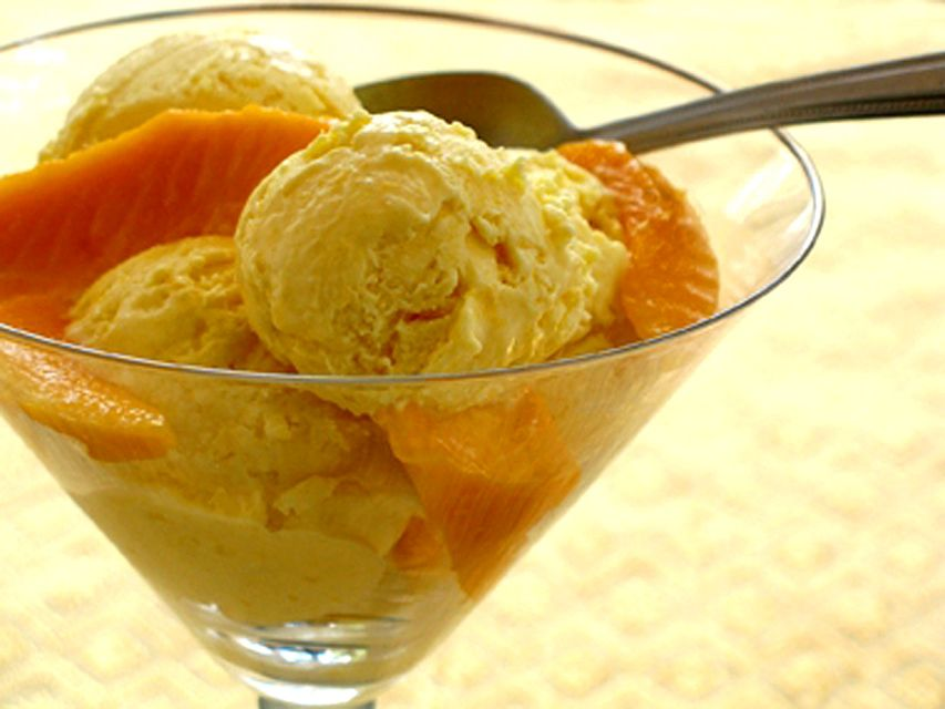 Mango Ice Cream As In Thailand