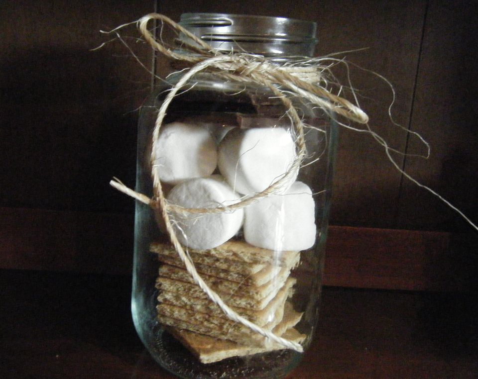 Camping Party Ideas: s'mores favors