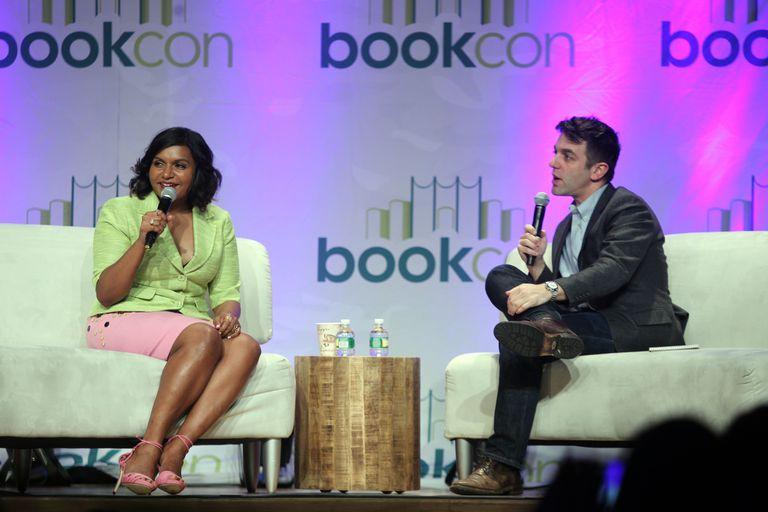 Mindy Kaling and B. J. Novak at BookCon