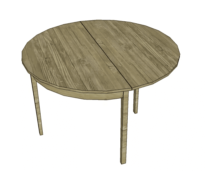 Designs by Studio C s Free Demilune Dining Table Plan. 12 Free Dining Room Table Plans for Your Home