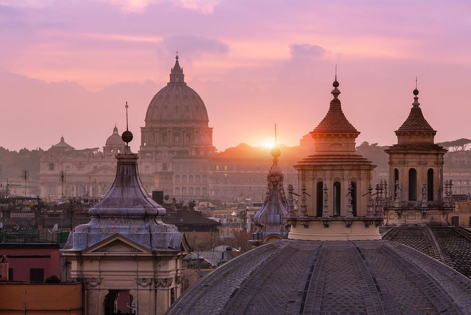 St Peter's Basilica, from the Pincio