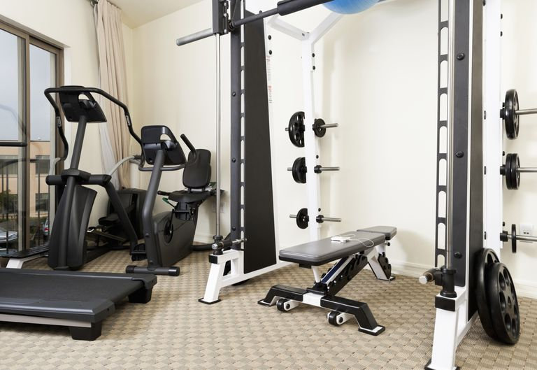 cardio and weight equipment in gym
