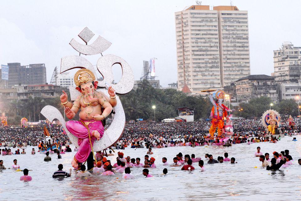 Ganesh immersion in Mumbai