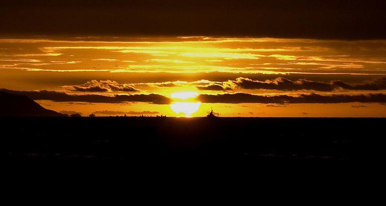Setting sun in Andalusia, Spain.