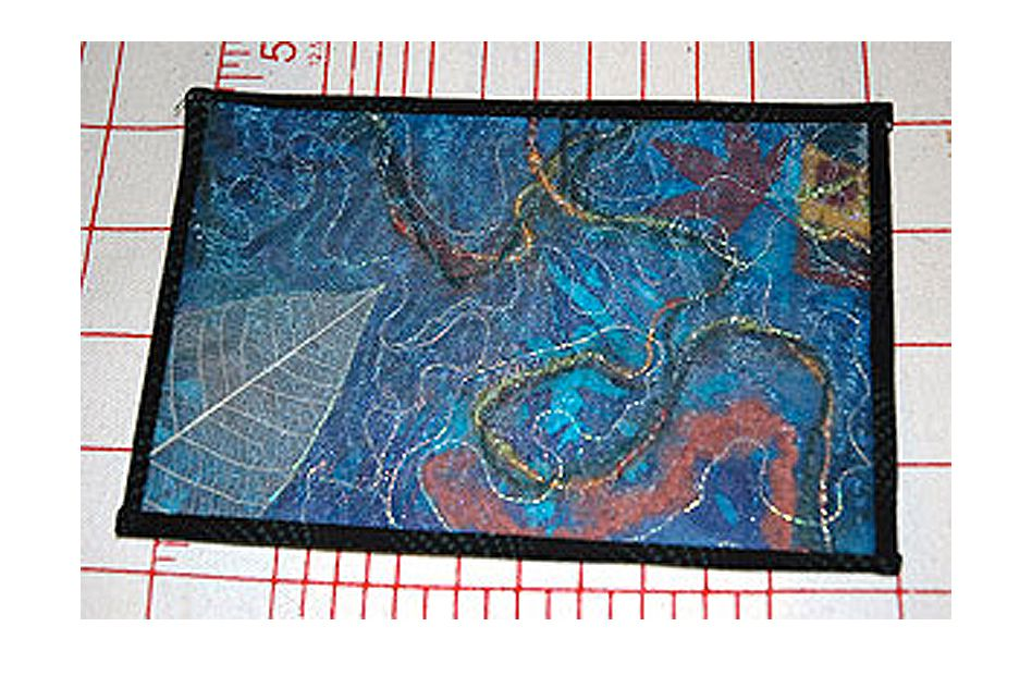 Freehand Fabric Postcard