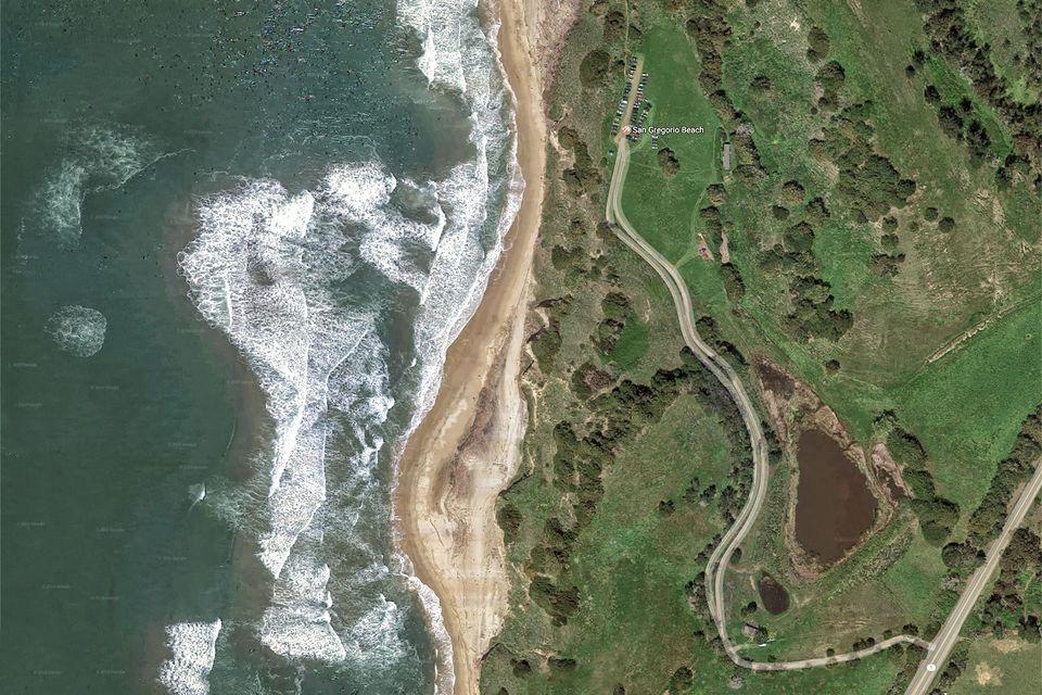 San Gregorio Beach from the Air