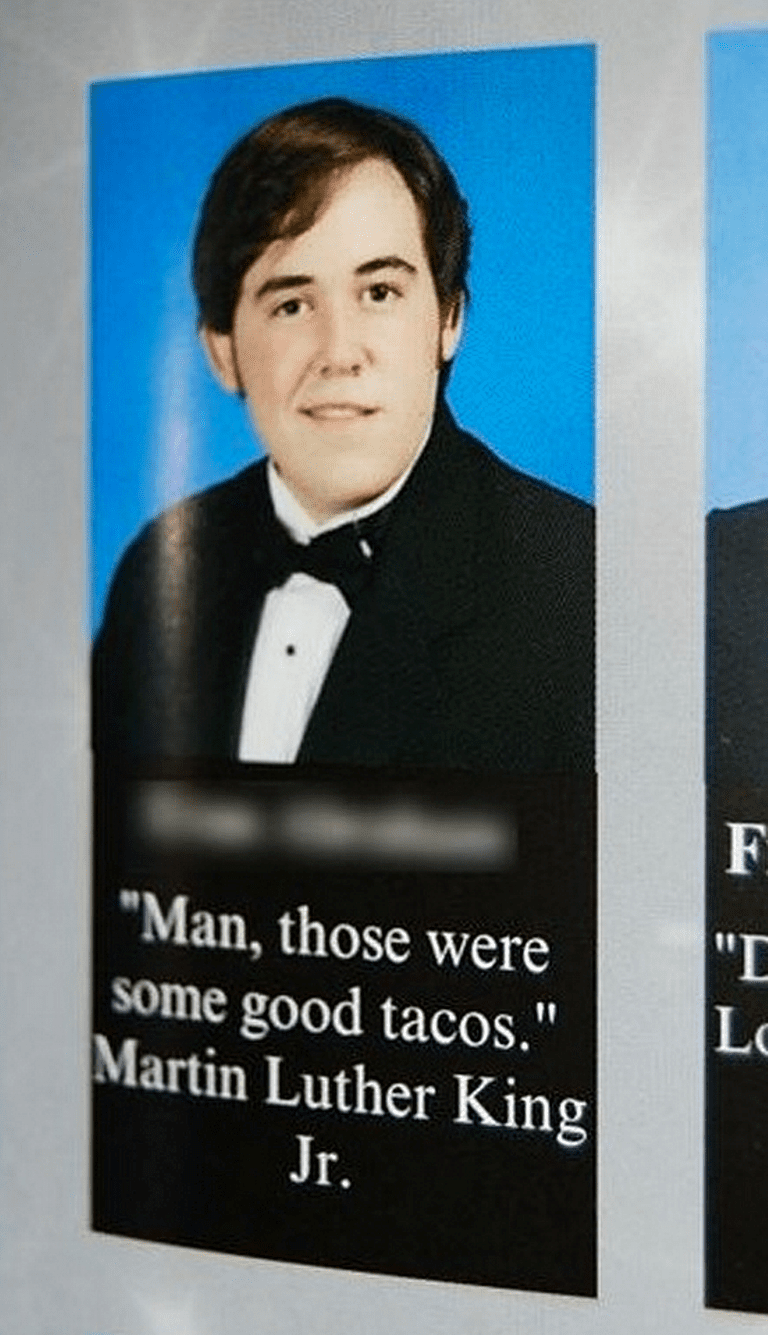 Hilarious yearbook quotes that belong a hall of fame yearbook quotes tacosg urtaz Choice Image