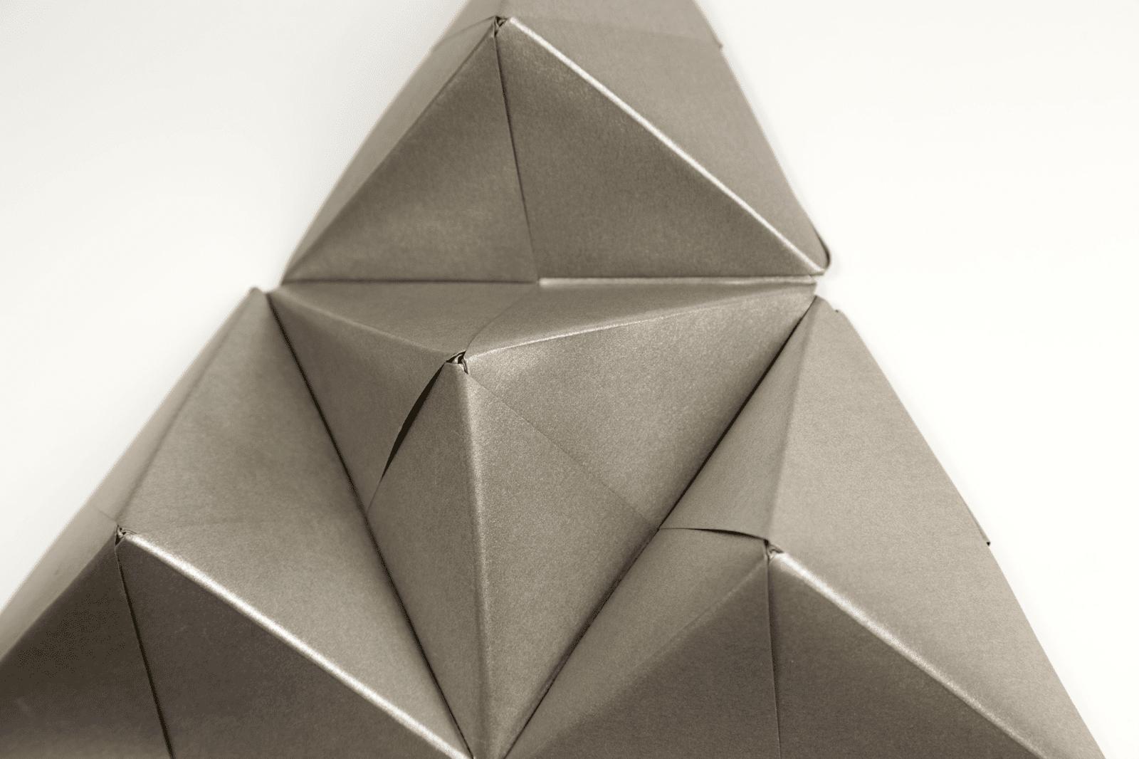 Geometric origami wall art with sonobe units jeuxipadfo Images
