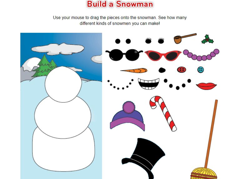 A screenshot of the game Build a Snowman