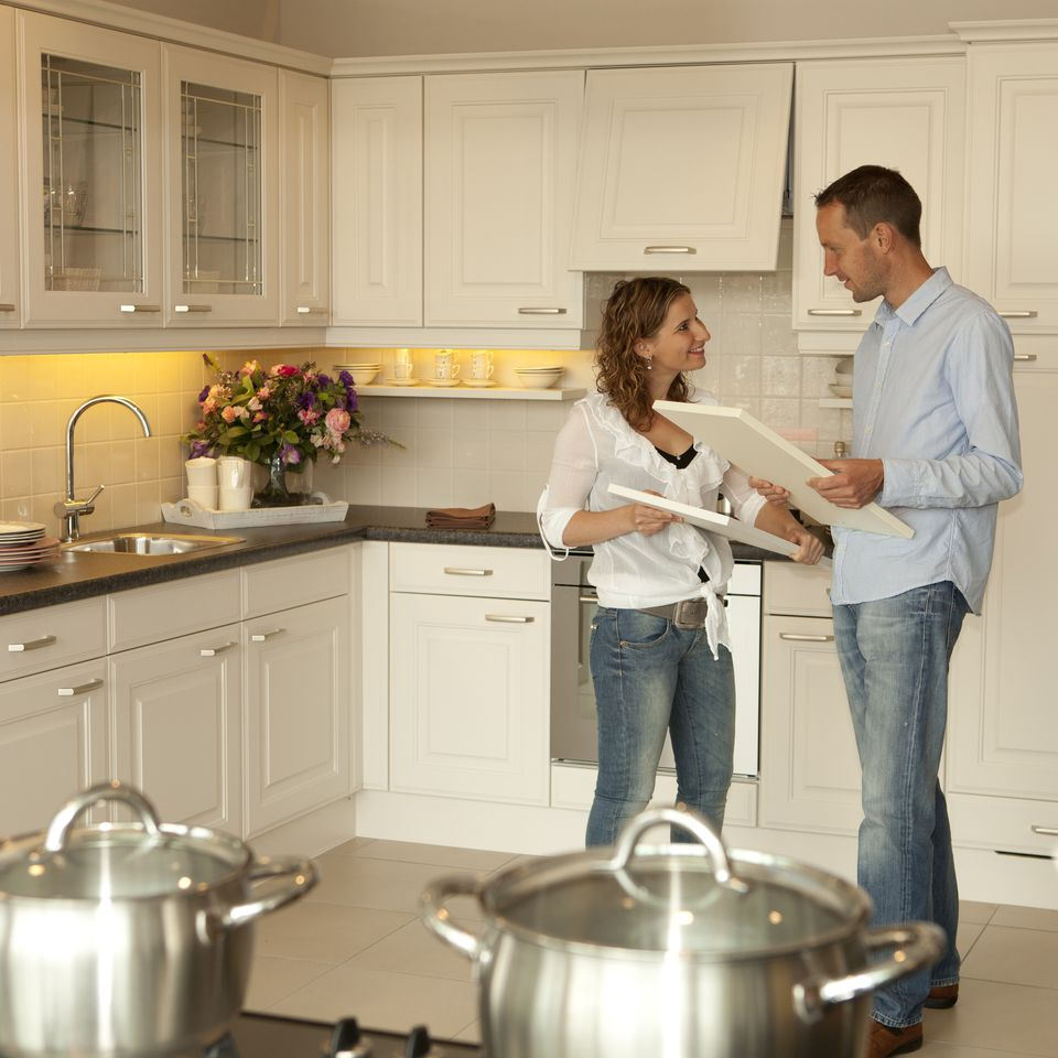 couple looking to remodel their kitchen