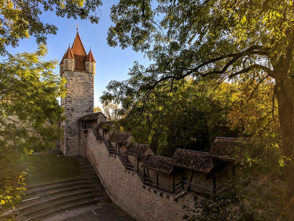 City Wall in Rothenburg ob der Tauber