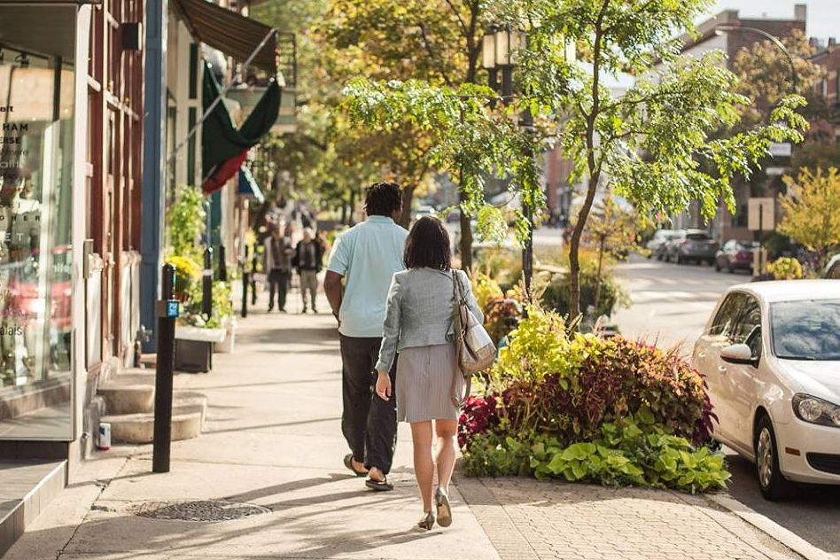Avenue Laurier West is an upscale Montreal shopping destination.
